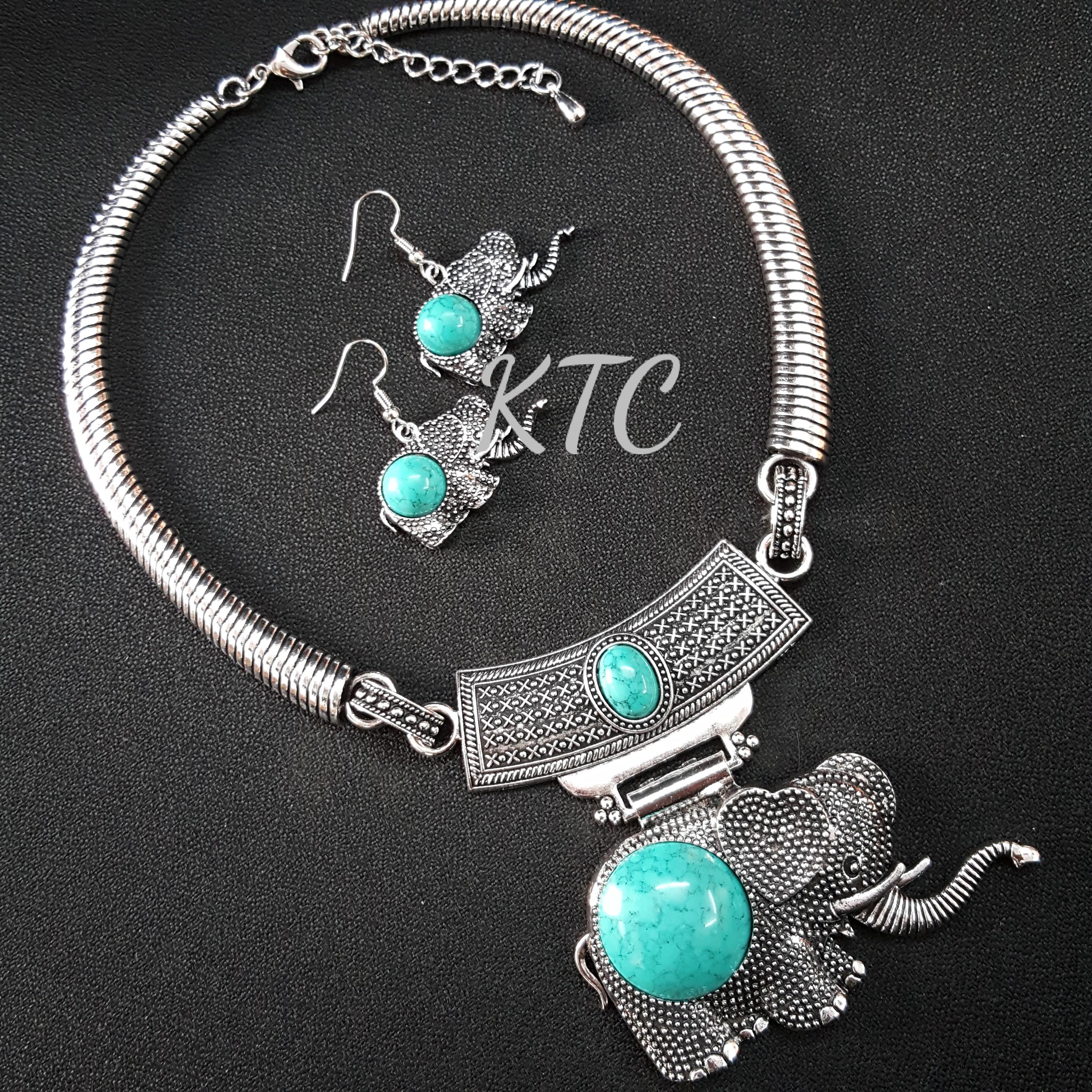 Elephant Turquoise Set