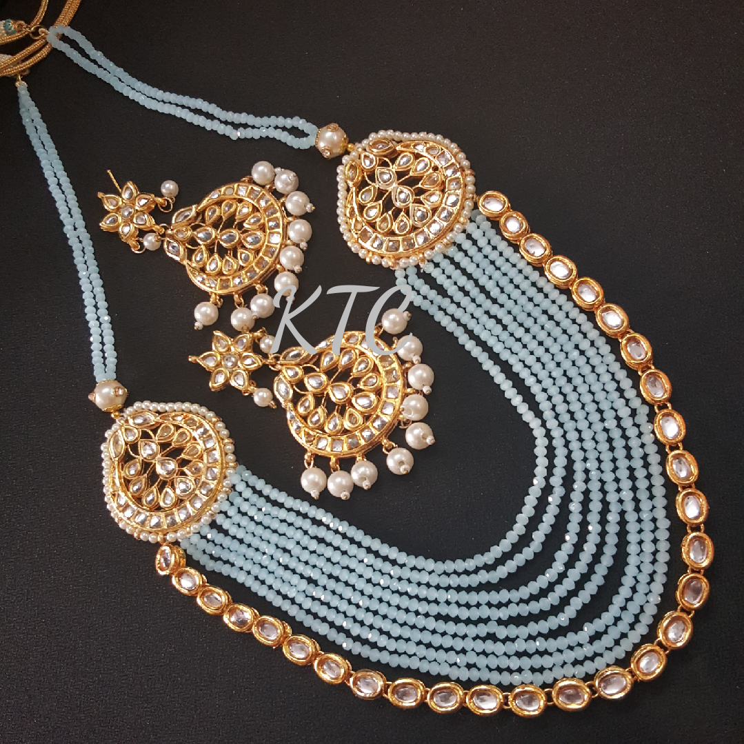 Turquoise Kundan Broach Necklace