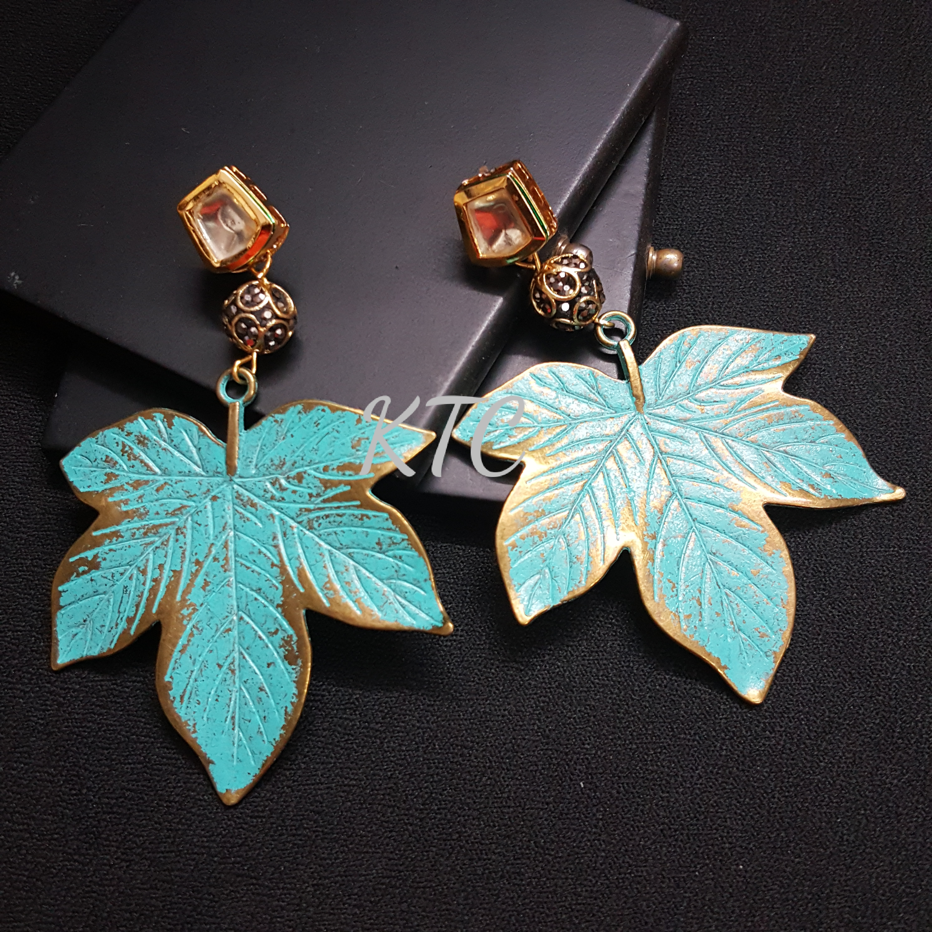 Turquoise Maple Earing