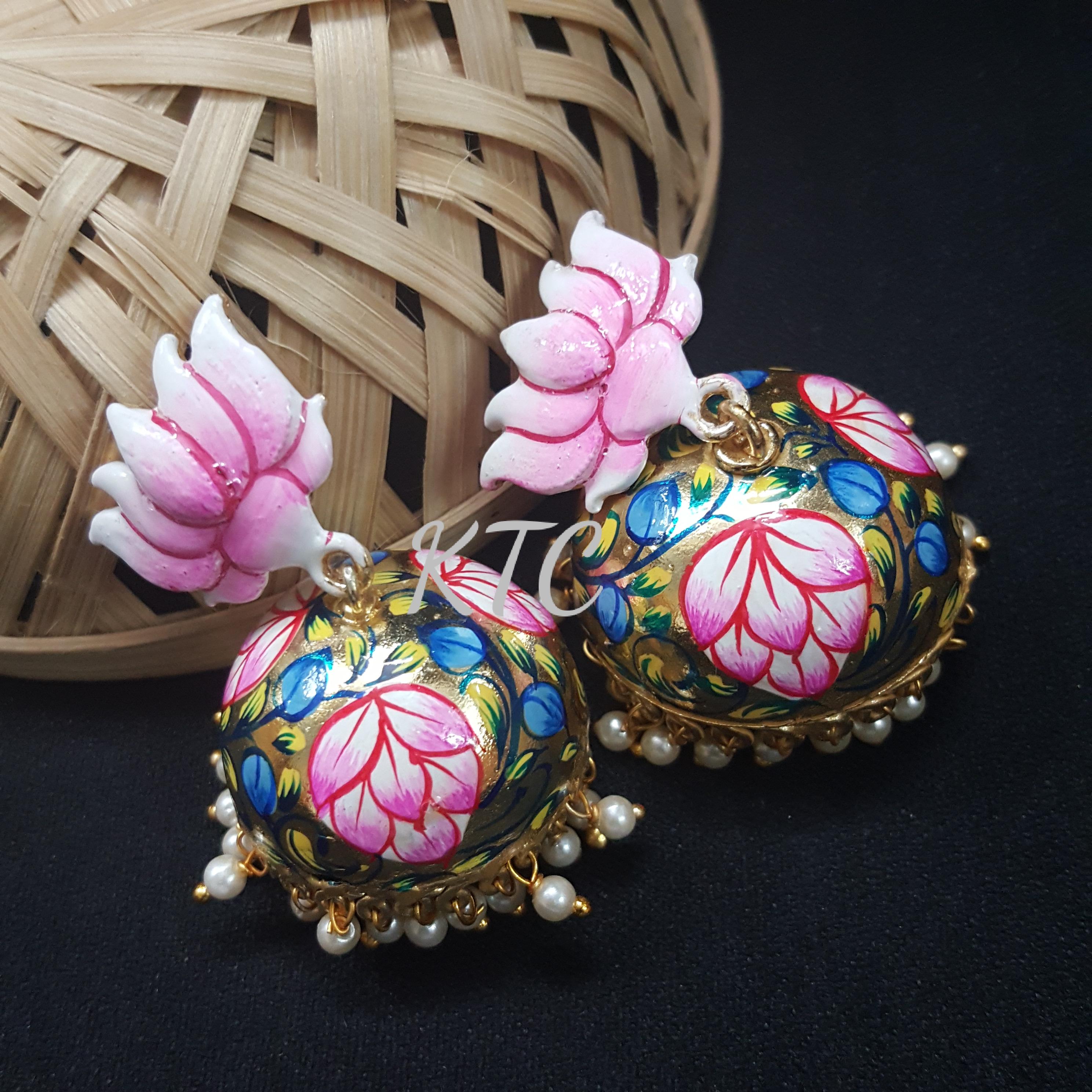 Tanjore Handpainted Jhumki